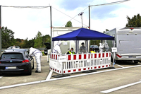Teststation für Reiserückkehrer an der A5 bei Neuenburg ist gut gestartet