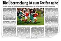 Ein Leckerbissen für 1152 Fans: Das Derby zwischen dem SV Grafenhausen und dem SC Kappel