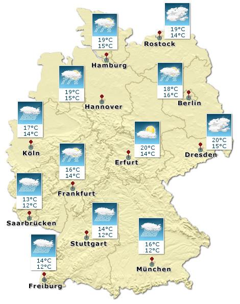 Wetterkarte: Deutschland
