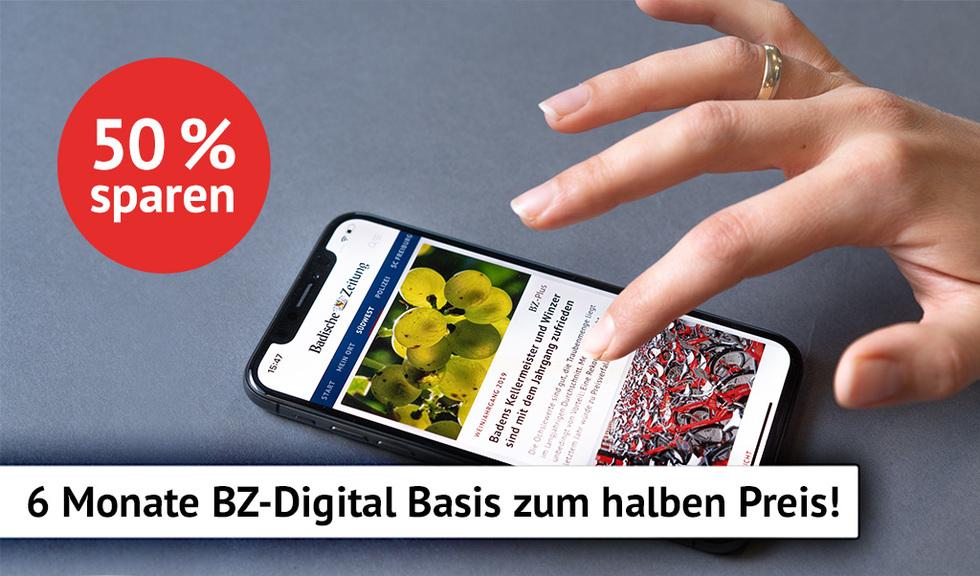 BZ-Digital Basis 6 Monate zum halben Preis