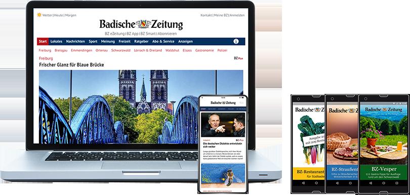 Digital-Abonnements der Badischen Zeitung