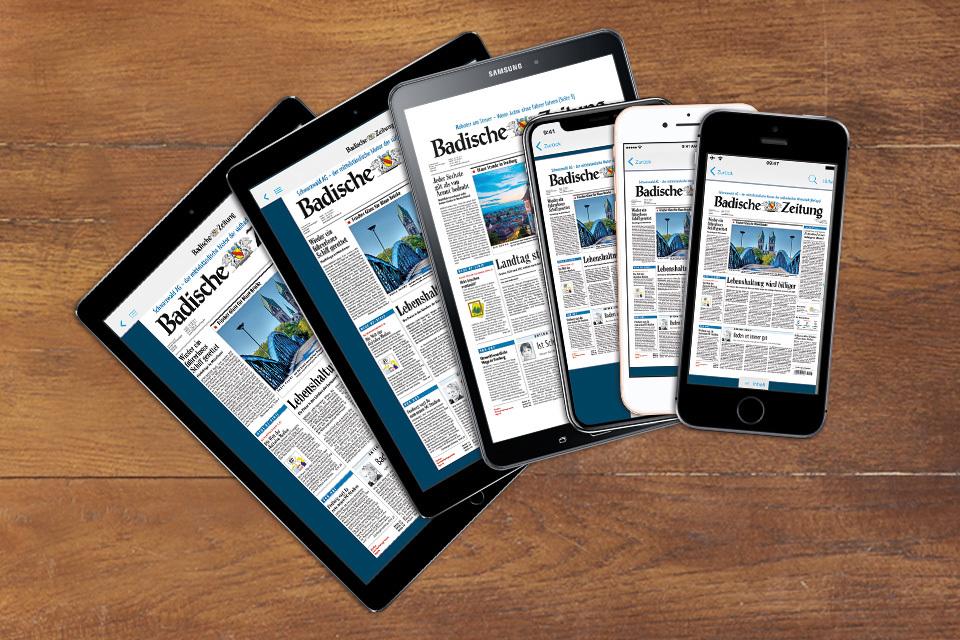 Badische Zeitung & BZ-Digital Premium inkl. Tablet / Smartphone nach Wahl