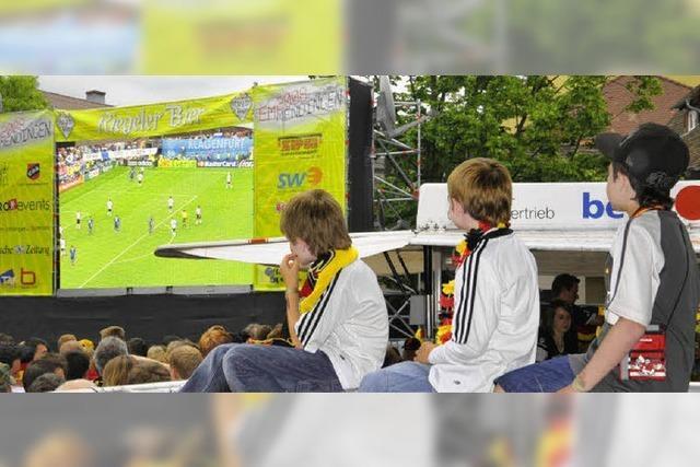 Fußball-Gucken in der VIP-Loge