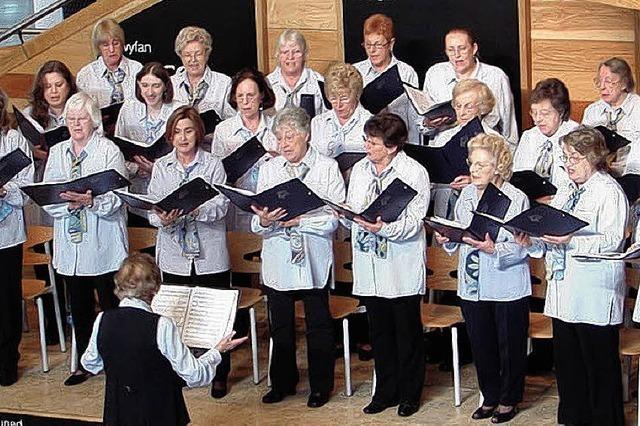 Singende Ladys aus Barry zu Besuch