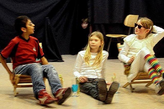 Schultheatergruppe mit