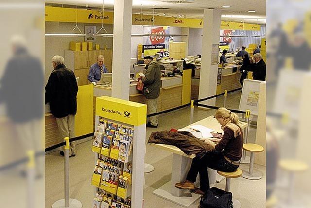 Die Post gibt in Freiburg vier Filialen auf
