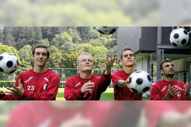 Erste Ballkontakte beim SC Freiburg