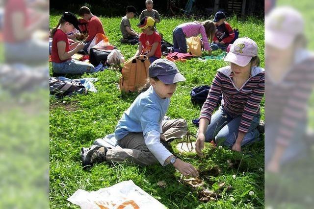 Grundschüler erleben die Natur hautnah