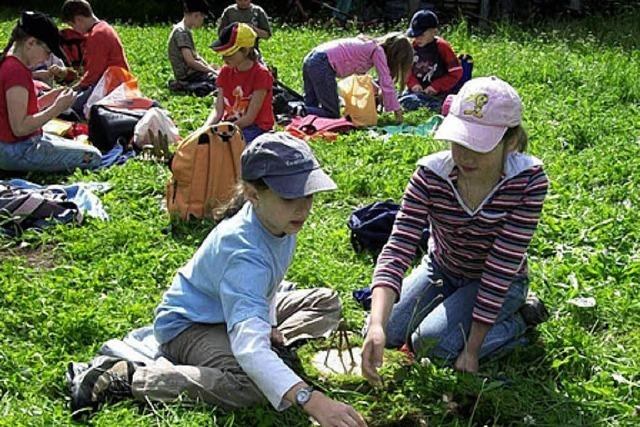 Grundschüler erleben Natur hautnah
