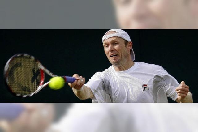 Rainer Schüttler allein in Wimbledon