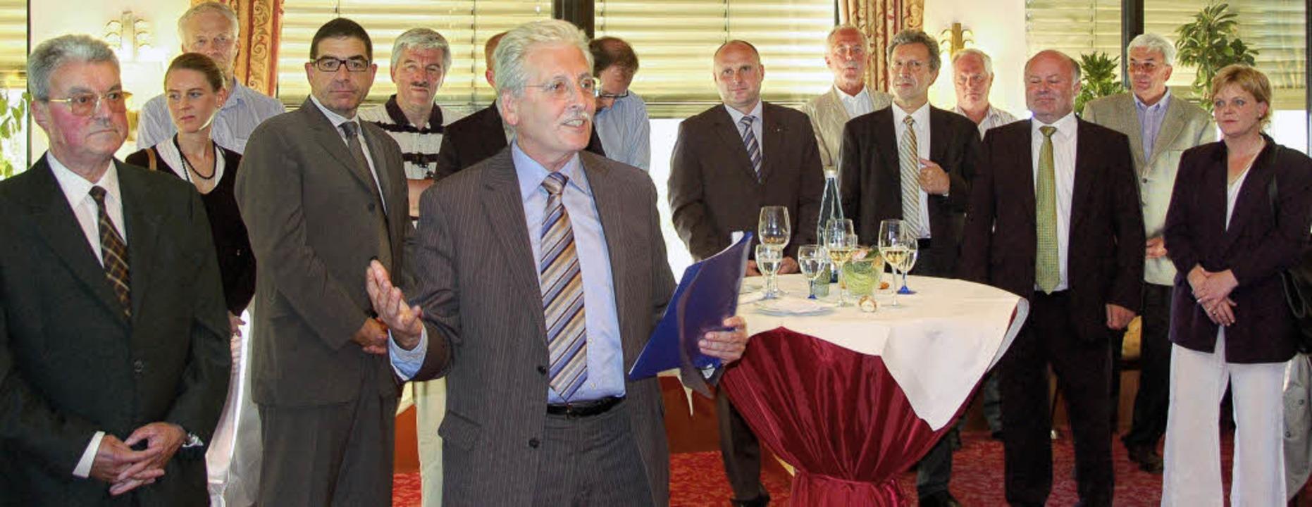 Der FDP-Fraktionsvorsitzende Ulrich No...skandidatin Tilla Deter (Emmendingen).