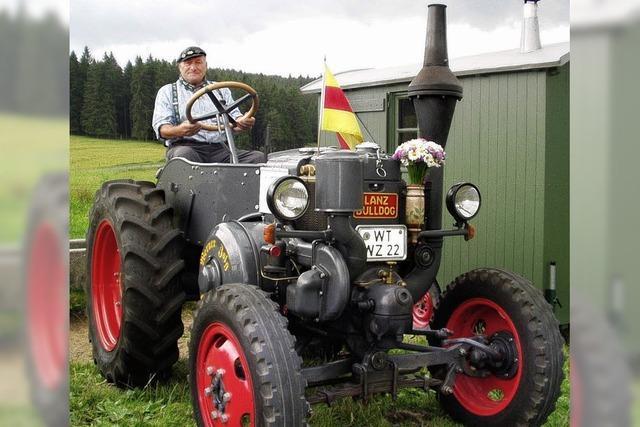 Alte Traktoren bestaunt