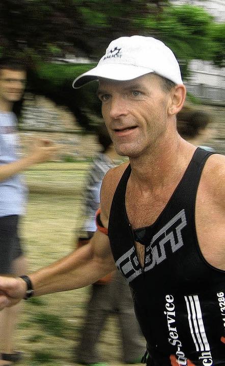 Norbert Weide auf der Laufstrecke    Foto: privat