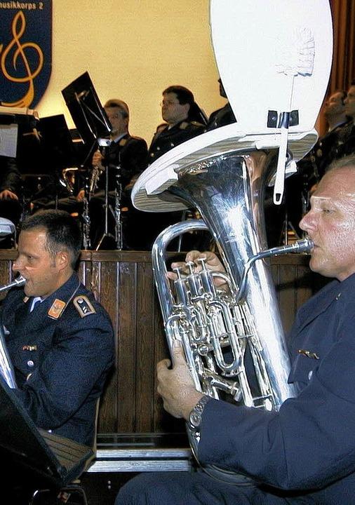 Das Luftwaffenmusikkorps gastiert wieder in Heitersheim.     Foto: Model