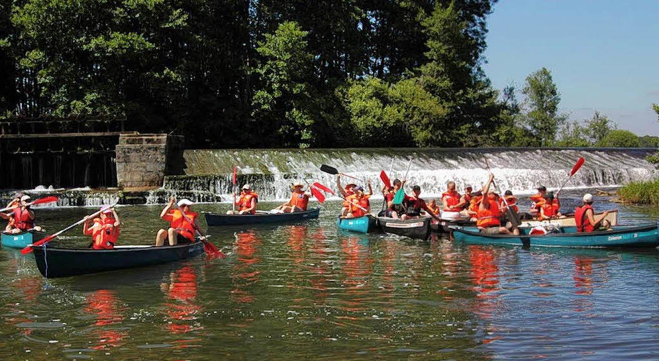 Auf dem Ognon in Frankreich paddelten ...Schwarzwaldvereins Kleines Wiesental.   | Foto: Verein