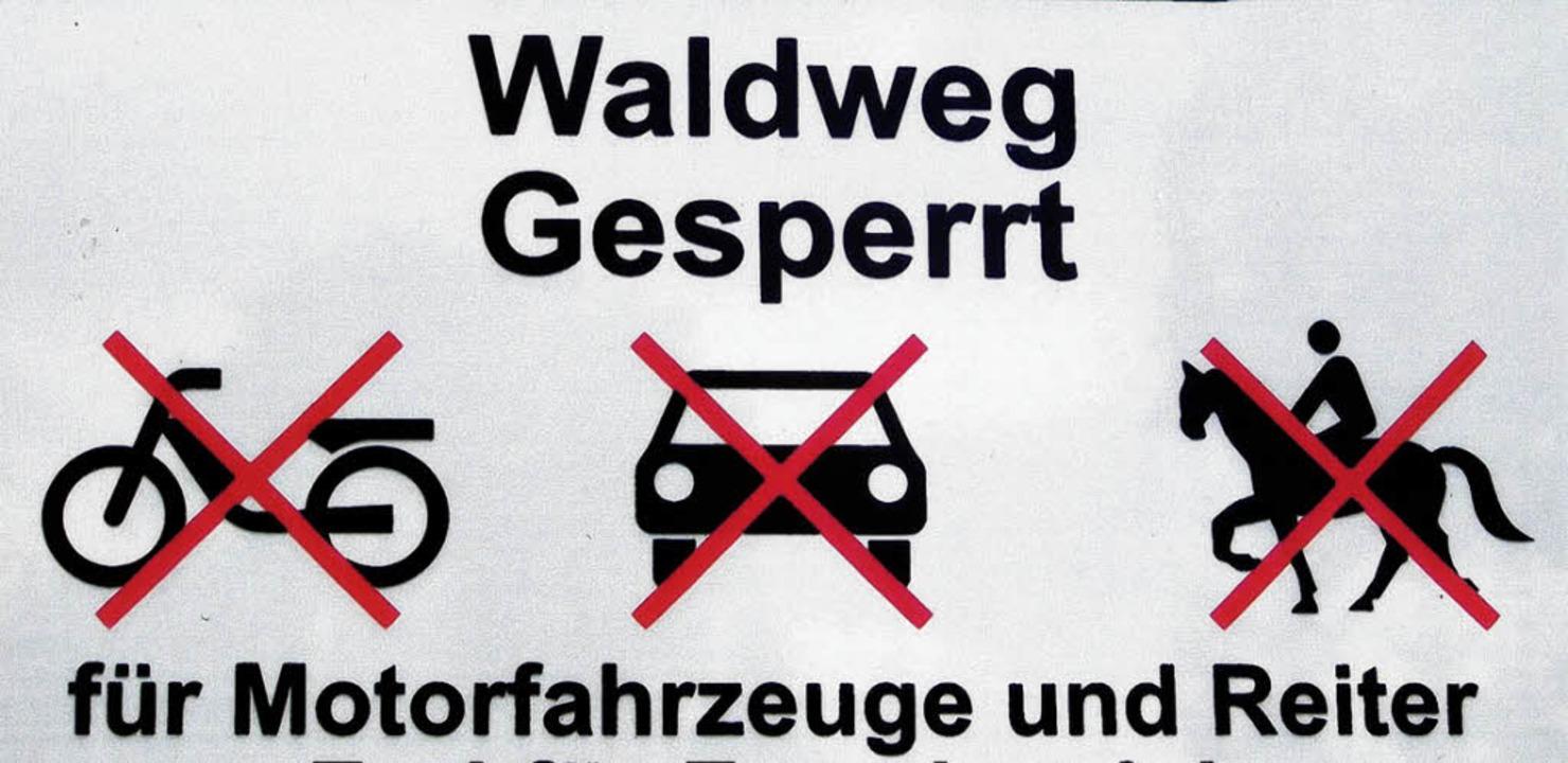 Das Reitverbot darf getrost ignoriert werden.     Foto: DANGEL