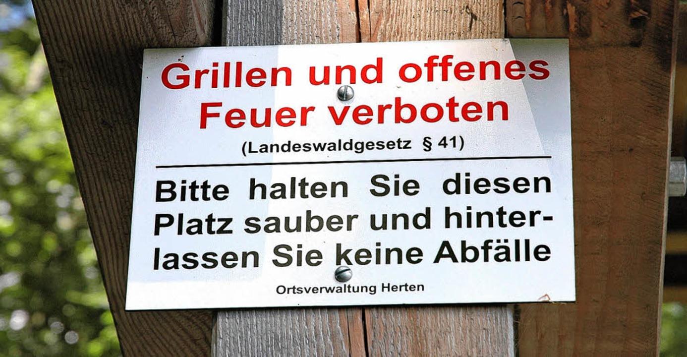 Noch ist es nicht erlaubt, aber die We...illstelle am Eigenturm sind gestellt.     Foto: Heinz Vollmar