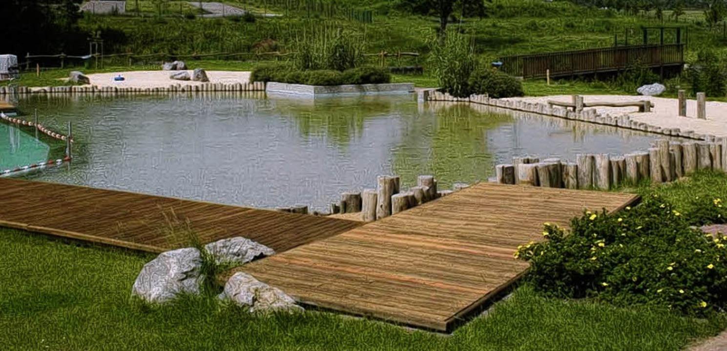 Wasser, Holz, Steine, Pflanzen: Das si...emente eine Naturbades bei Eko-Plant.   | Foto: ZVG