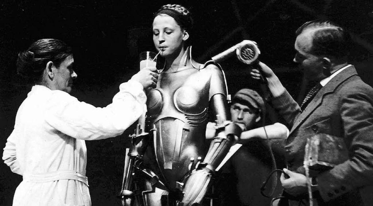 Aufwendige Dreharbeiten: Brigitte Helm...20; von 1927 einen Maschinenmenschen.     Foto: ddp