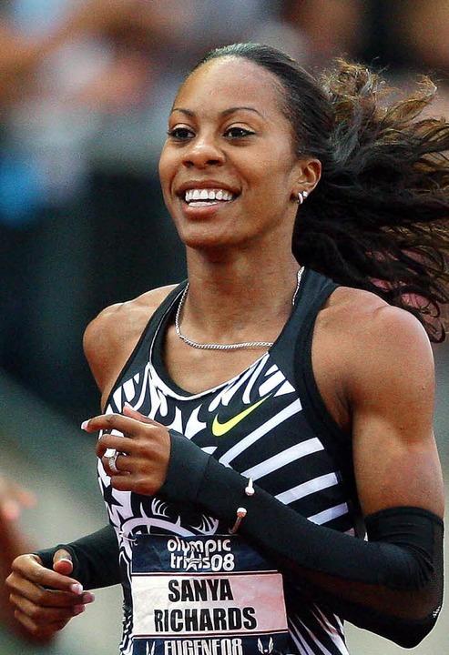 """US-Sprinterin Sanya Richards sagt:  &#...nieren, um die Besten zu sein.""""     Foto: afp"""