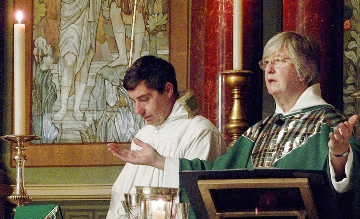 Die anglikanische Pfarrerin Dorothy Ni...t. John im Londoner Stadtteil Balham.   | Foto: EPD