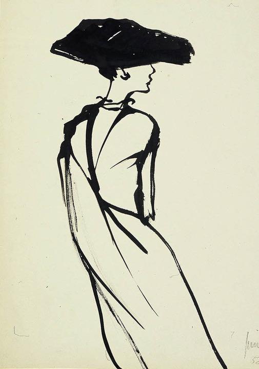 Ihre Eleganz und Leichtigkeit – ...en an den Arbeiten des Modezeichners.   | Foto: Grimm Foundation