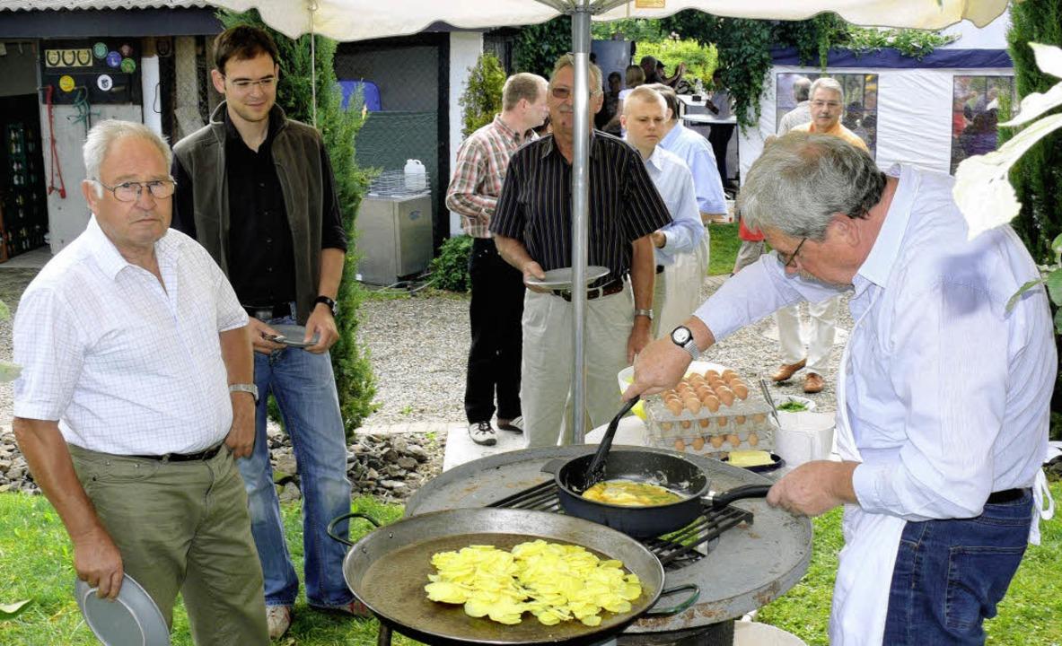 Deftiges gab's zum regionalen Fr...f dem Winzerhof Wiedemann in Sasbach.   | Foto: Privat