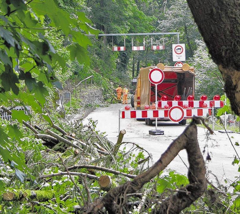 Die Albtalstraße von Tiefenstein bis Albbruck war  gesperrt.      Foto: HUBER