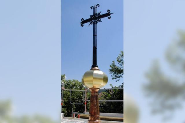Kreuz auf der Turmspitze