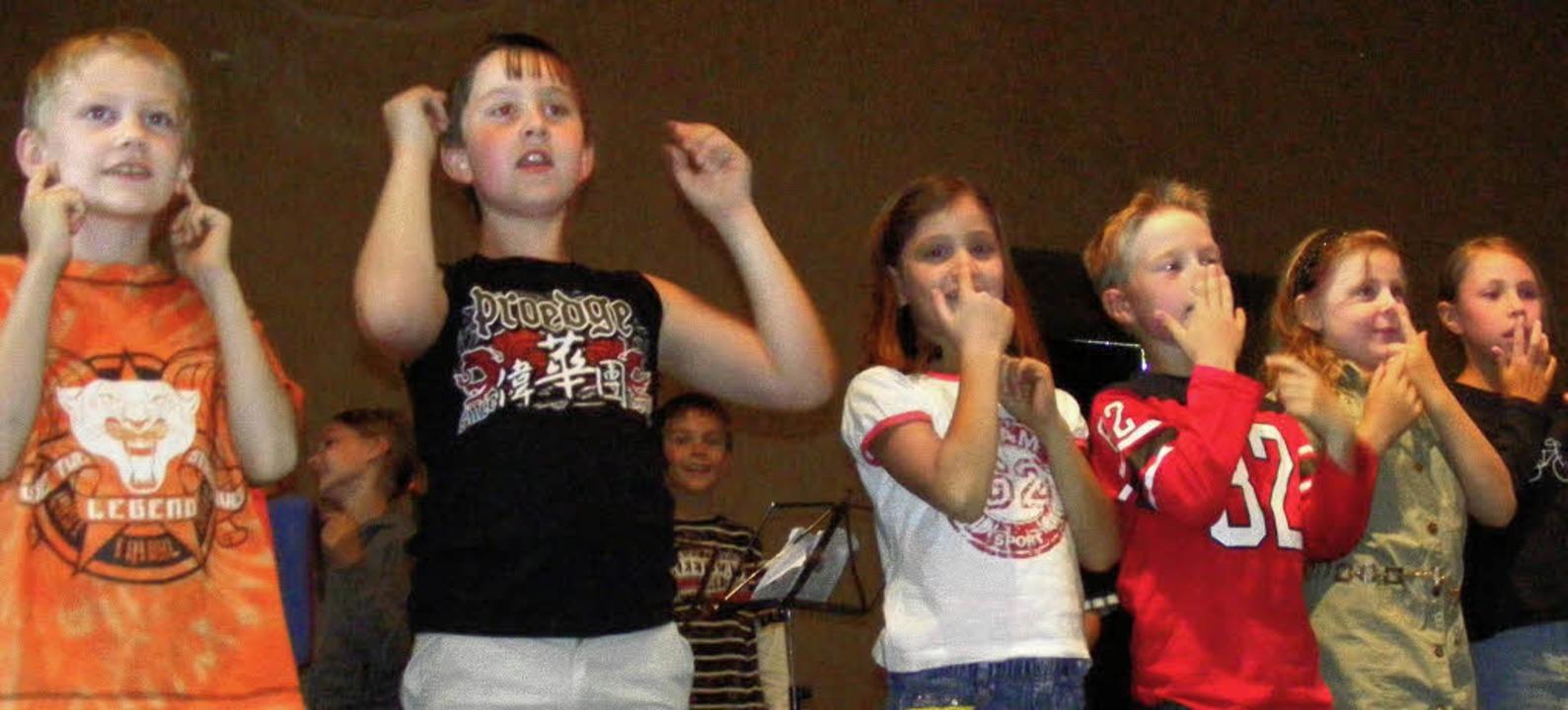 Die Kleinsten waren beim Sängerhock di...eim Sängerhock  besonders viel Freude.    Foto: WOLFGANG ADAM
