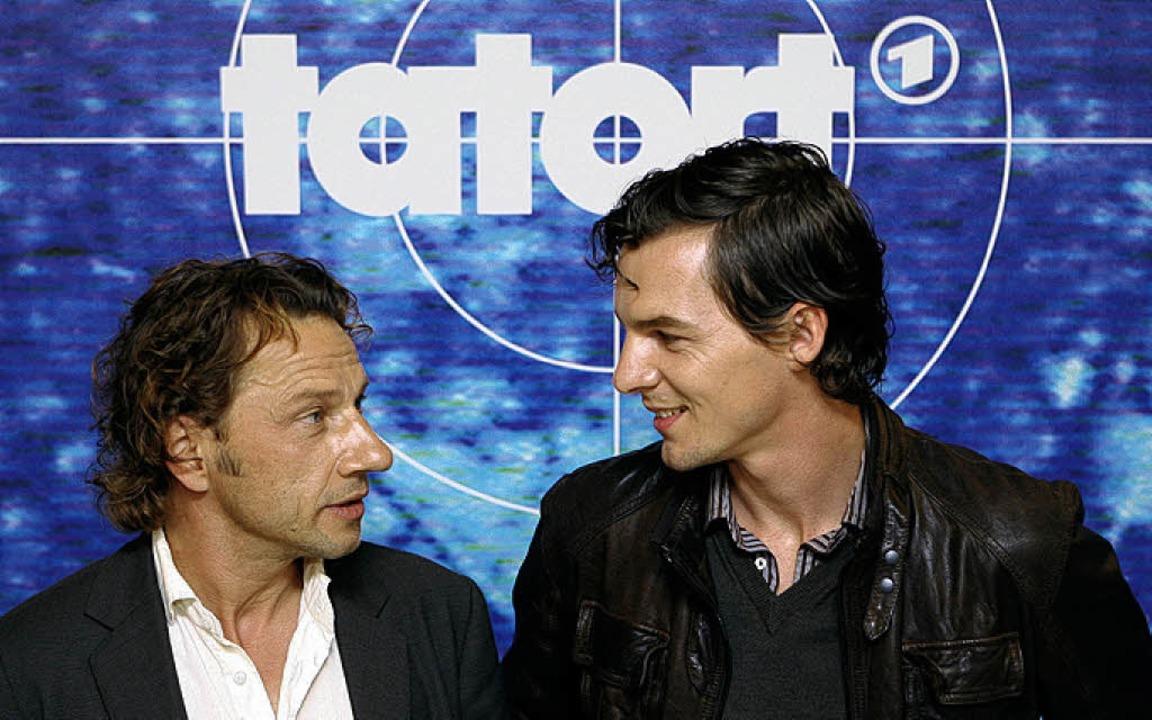 Die Schauspieler Richy Müller (links) ...  als Hauptkommissar Sebastian Bootz      Foto: dpa
