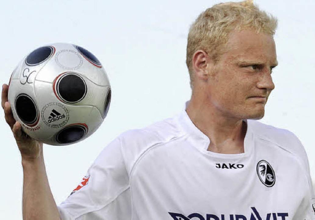 Fühlt sich beim SC Freiburg richtig gut: der dänische Neuzugang Tommy Bechmann    Foto: heuberger