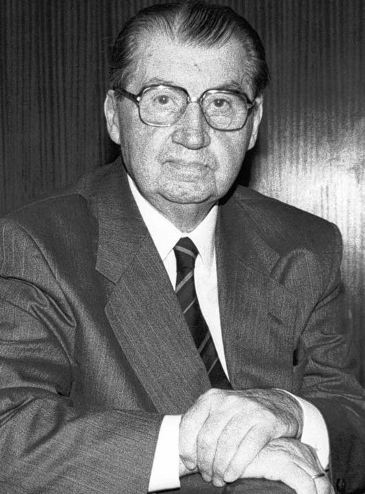 An seinem 80. Geburtstag 1993: Karl Härringer   | Foto: heinz wurzer