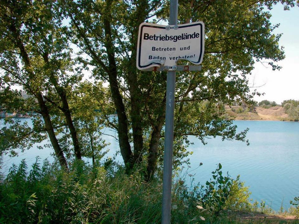 Das Südwestufer ist Betriebsgelände – das Betreten ist verboten.  | Foto: Claudia Krappitz