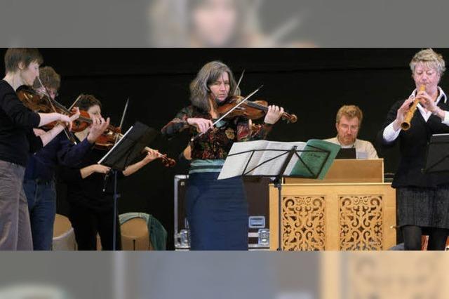Bei einer CD-Einspielung des Freiburger Barockorchesters live dabei