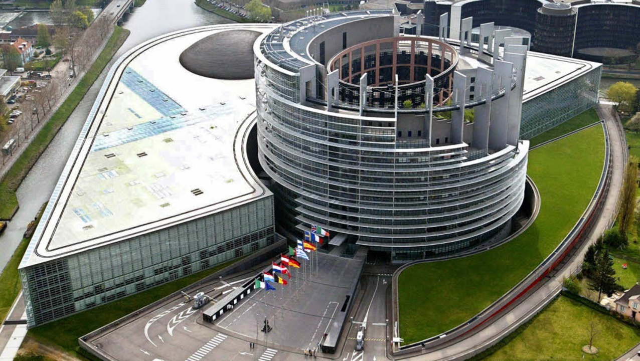 Die EU-Abgeordneten tagen nur noch zwe...onat im Parlamentsgebäude an der Ill.     Foto: dpa