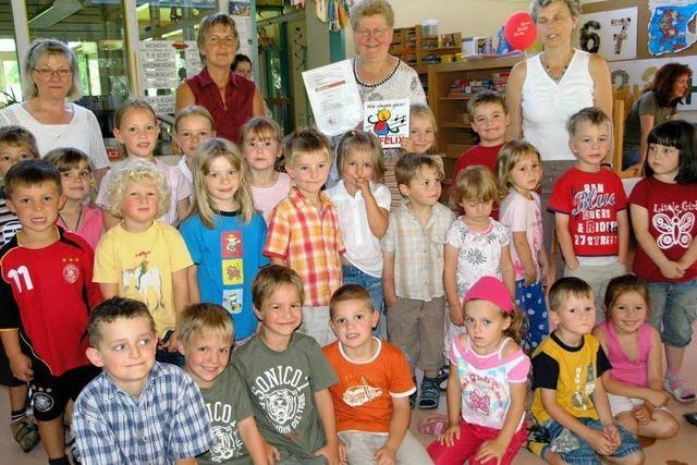Kindergarten Weizen erhält den