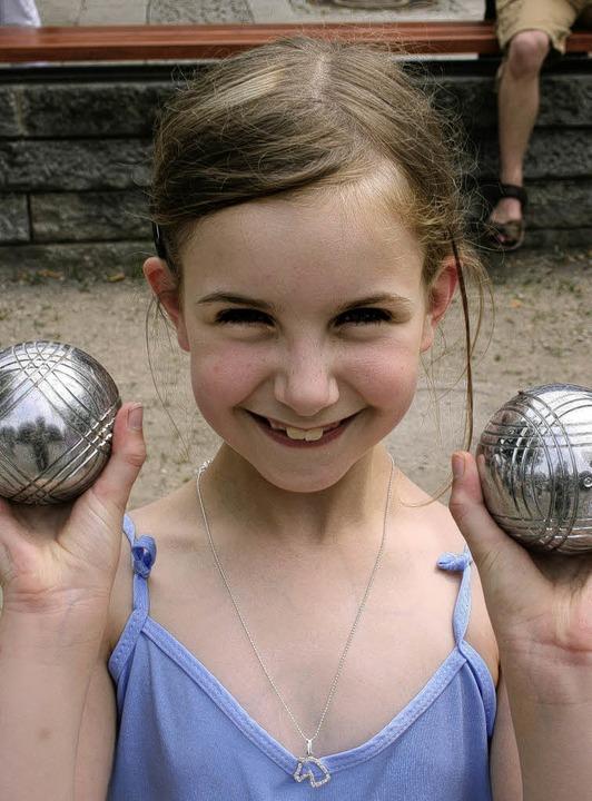 Carolin Ehrentraut, 8 Jahre alt,  war die jüngste Turnier-Teilnehmerin.