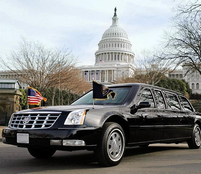 Karosse für mächtige Männer: Cadillac ...eine Langversion  des Topmodells DTS.   | Foto: dpa