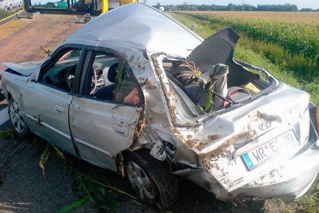 Drei schwer Verletzte auf der Autobahn
