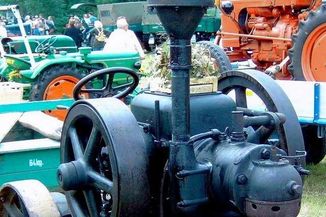 Ein Faible für alte Landmaschinen