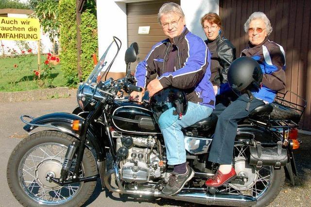 Mit 85 als Sozia unterwegs