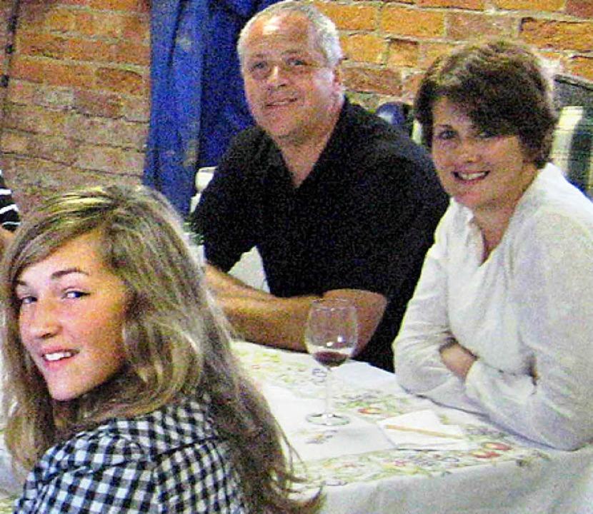 Christopher Foster mit Ehefrau Jillian und Tochter Kirstie