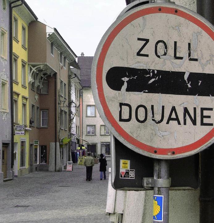 Dreimal im Laufe von 200 Jahren war die Grenze zur Schweiz total gesperrt.    | Foto: SIMONE HÖHL