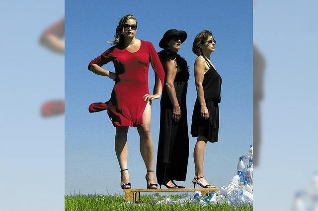 Schiffbruch dreier Frauen