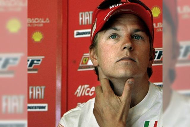 Räikkönen fährt nur noch hinterher