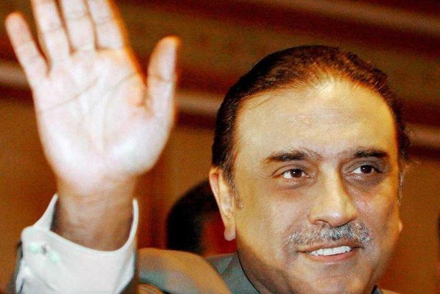 Asif Ali Zardari mit deutlicher Mehrheit gewählt