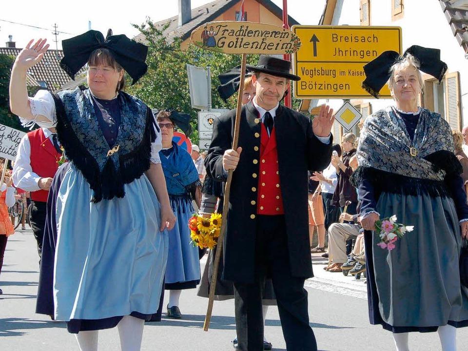 Der Gottenheimer Trachtenverein war Gastgeber zum Kreistrachtenfest.   | Foto: Sebastian Ehret