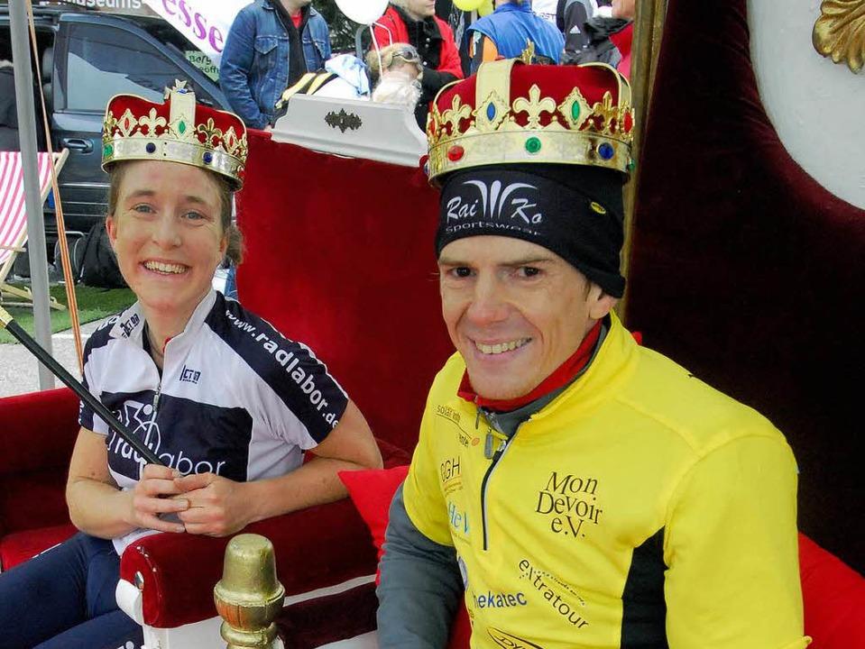 Königspaar: Martina Höllige und Floria...11; Link in exzellenten 29,14 Minuten.  | Foto: Michael Bamberger
