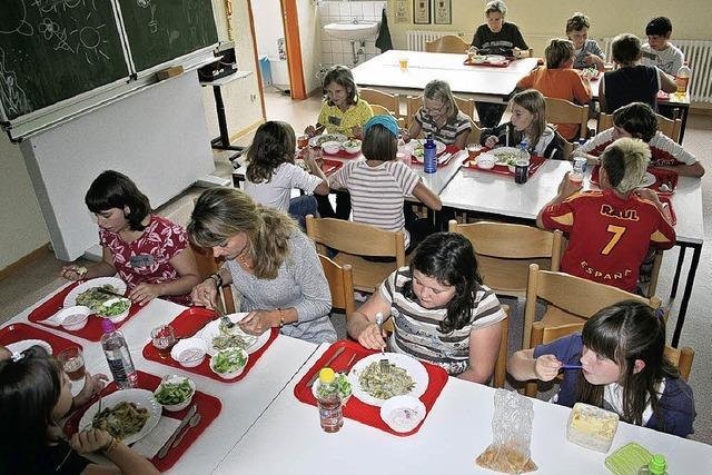 Nach Deutsch und Mathe gibt's ein Mittagessen